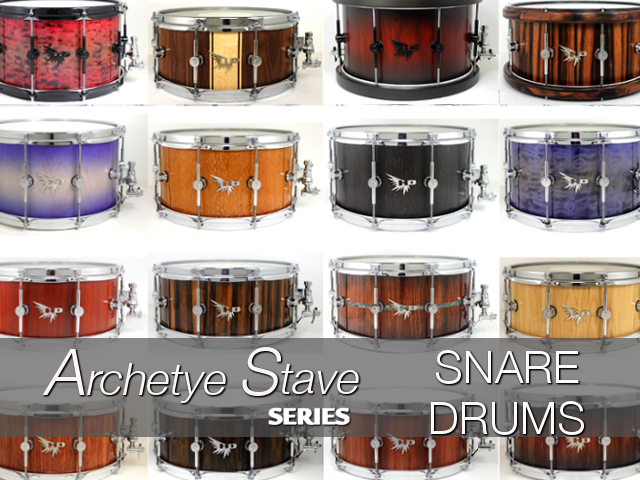 Archetype Stave Series  Snare Drums