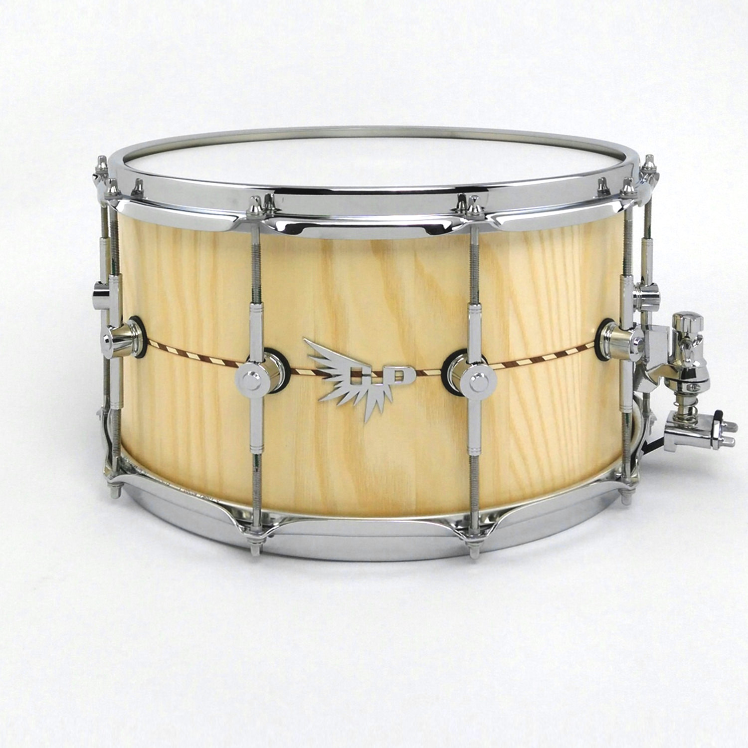 "Big 8"" Stave Snare Drum Ash Wood Hendrix Drums"