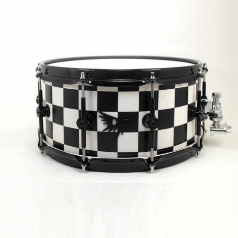 Checkerboard Drum Snare HD Drums Custom Stave Hendrix