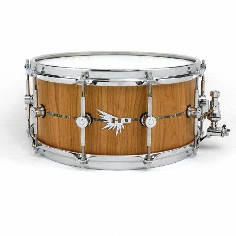Cherry Snare Drum Craviotto Abalone Inlay Hendrix Drums