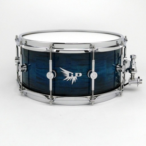 Curly Maple Snare Drum Blue Hendrix Drums Stave