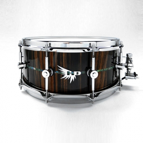 DW Snare Drum Best Hendrix Drums HD Inlay Macassar Ebony