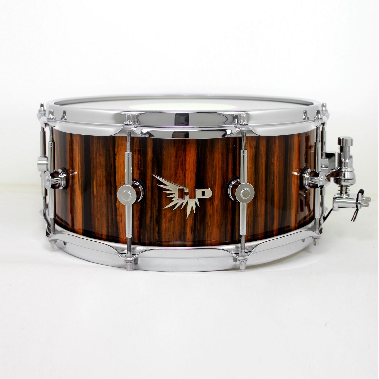 Macassar Ebony Snare Drum Hendrix Exotic Pearl Drums