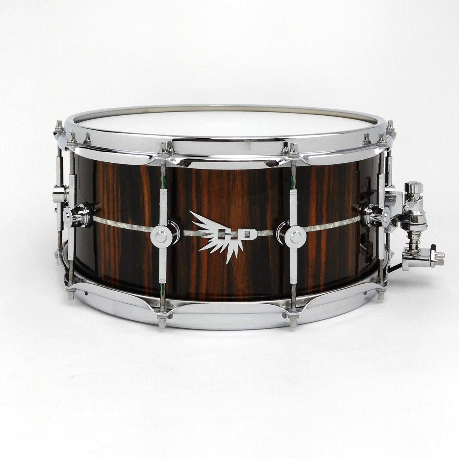 Craviotto Snare Drum Hendrix Drums Stave Macassar Ebony Inlay HD