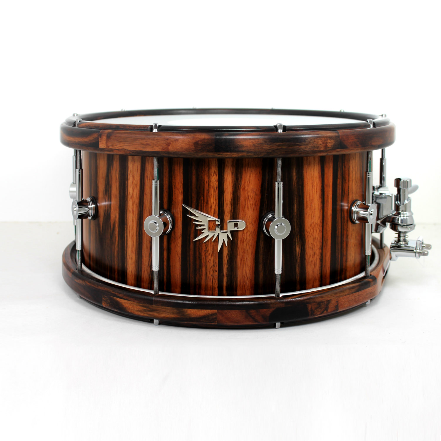 Wood Hoop Snare Drum Hendrix Drums Macassar Ebony HD Stave