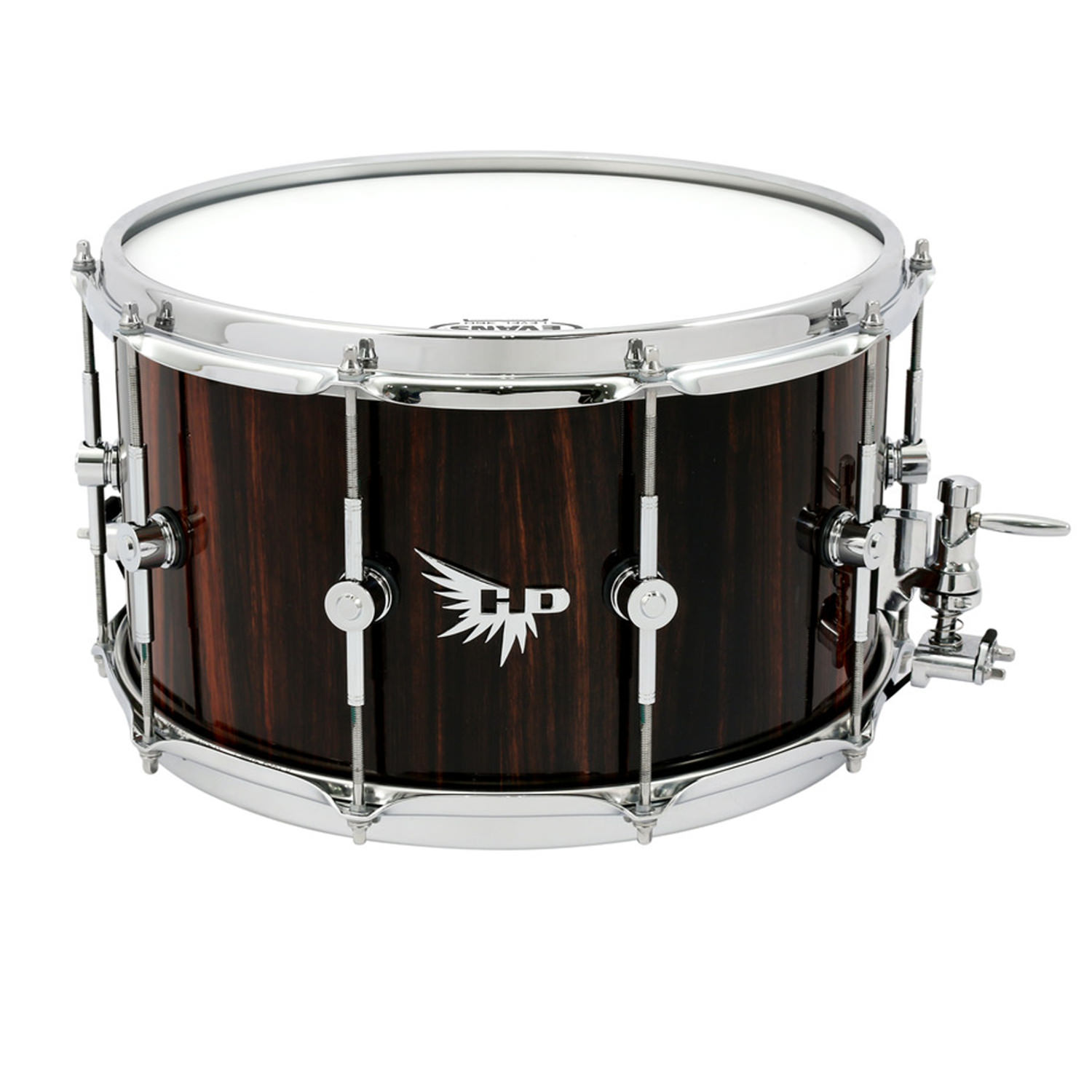 Stave Snare Drum Hendrix Drums HD Best Macassar Ebony Gloss Dunnet