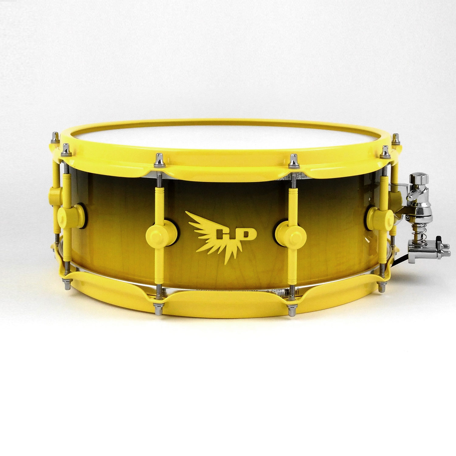 Wes Watkins Snare Drum Hendrix Drum HD Yellow Black Stave