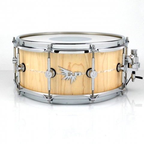 Hendrix Drums Craviotto Stave Snare Drum Inlay HD White Marine Pearl Maple