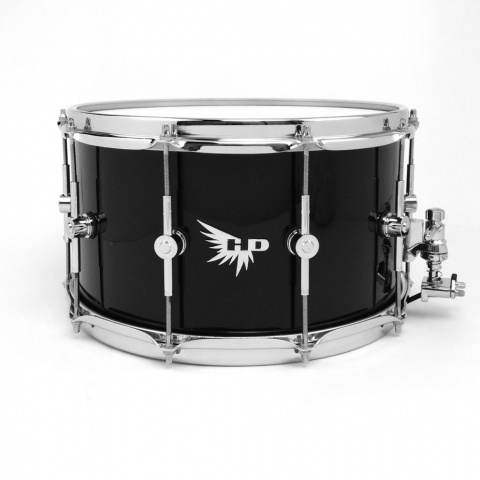 Piano Black Gloss Snare Drum Hendrix Drums 14x8 Pearl HD