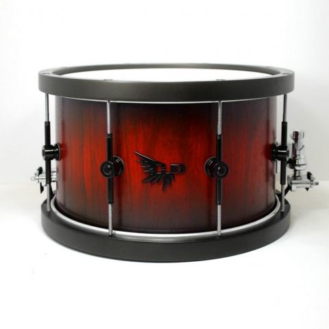 Wood Hoop Snare Drum Padauk Hendrix Drums HD Stave Red