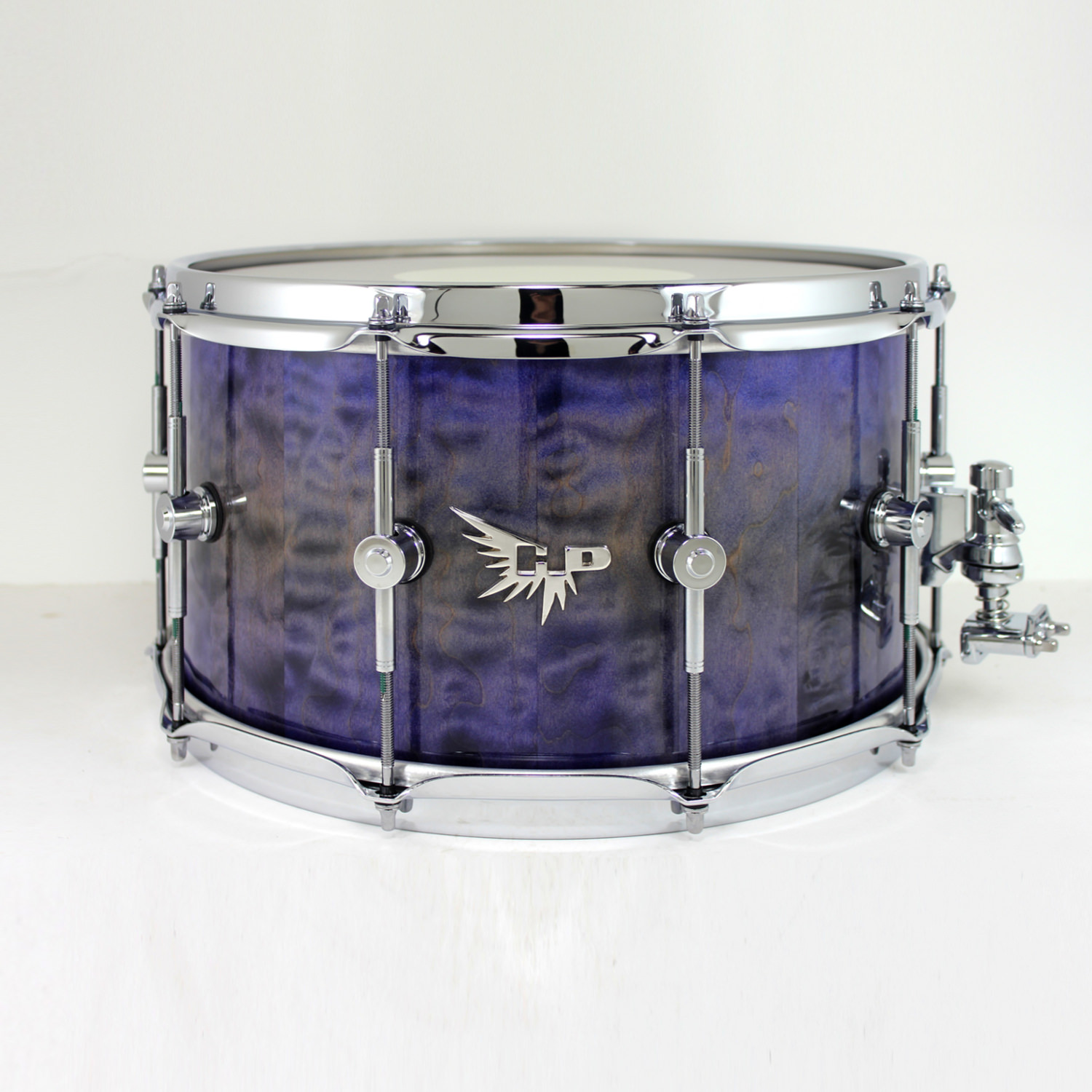 Stave Snare Drum DW Hendrix Drums Purple Quilted Maple Pearl