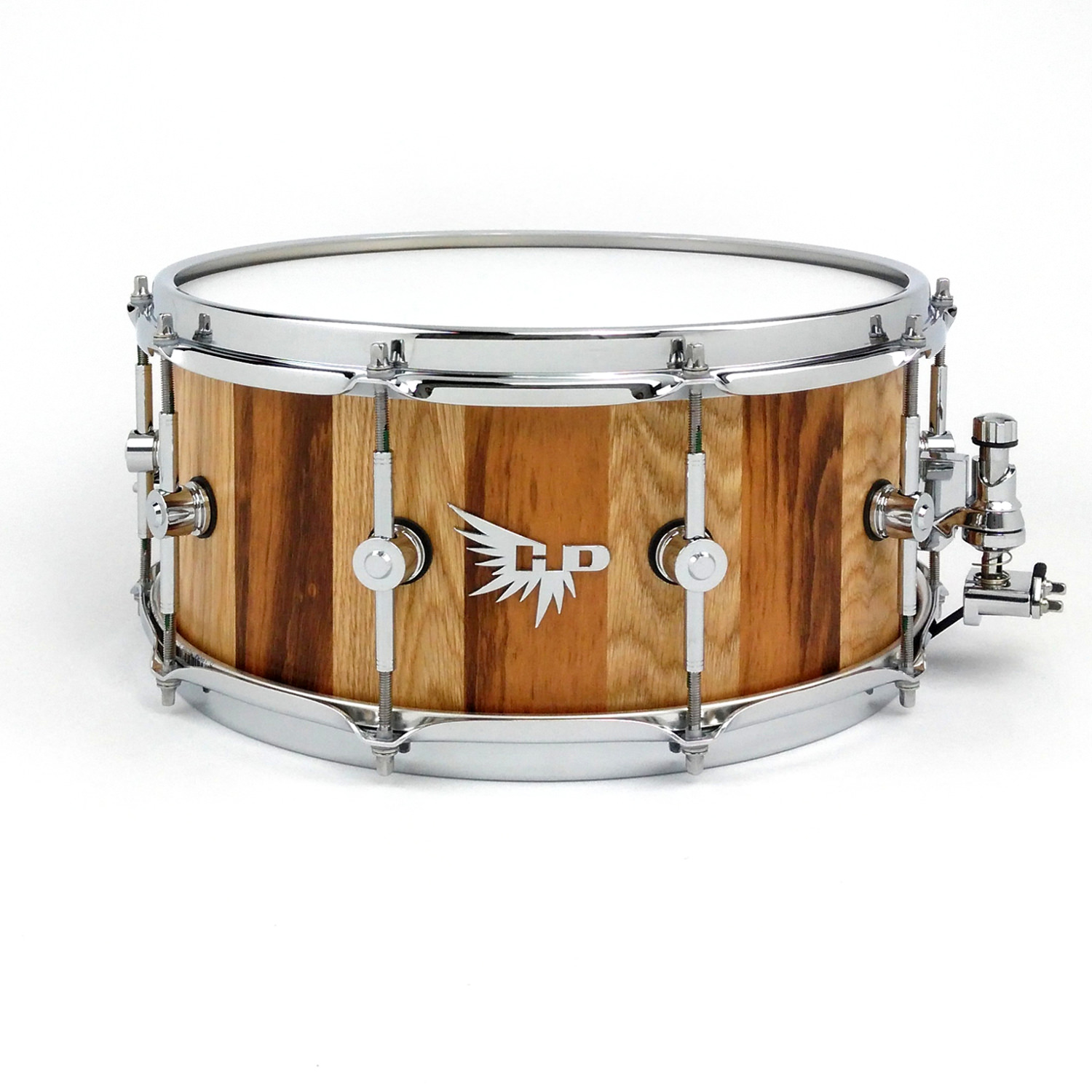 Tigerwood Oak Striped Snare Drum Stave Hendrix Drums Tama