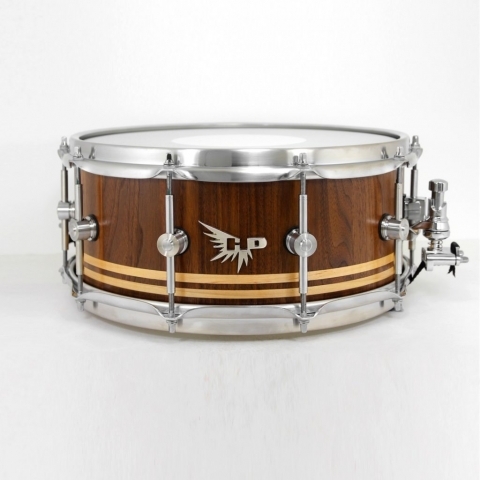 Teddy Grant Snare Drum Walnut Stave Hendrix Drum HD Maple Inlay Tama