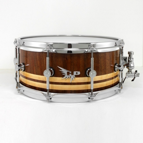 Walnut Double Inlay Maple Craviotto Snare Hendrix Drums HD