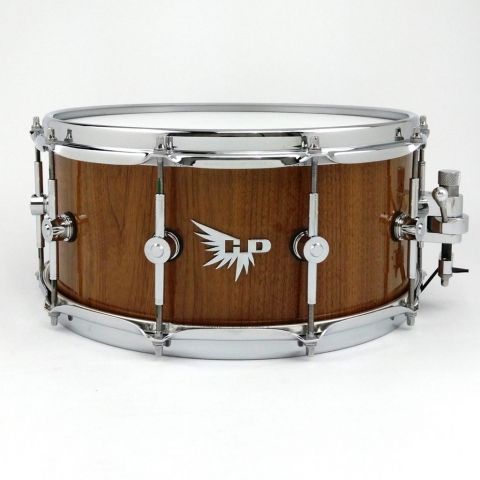 Walnut Gloss Snare Drum Dunnett Craviotto Stave Solid Hendrix Drum Pearl