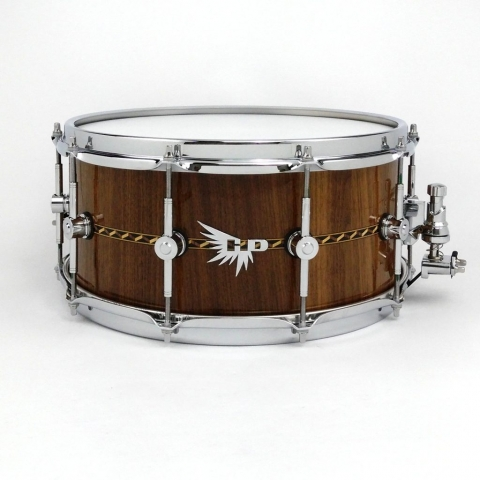 Walnut stave Snare Drum Tama Hendrix Drums HD Inlay Craviotto Maxwell
