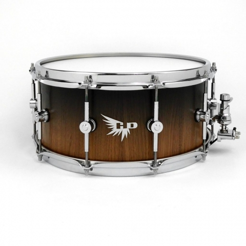 Walnut Snare Drum Black Fade Stave Hendrix Drums HD