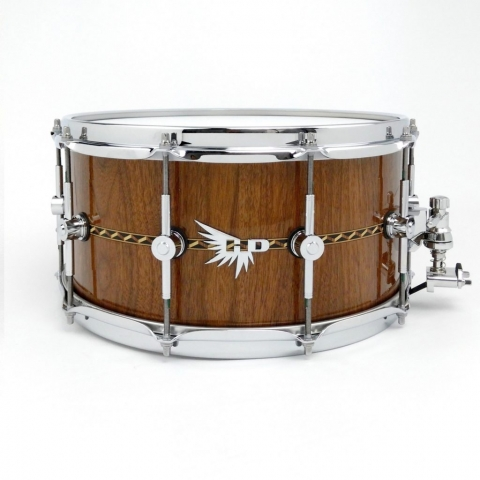 Craviotto Walnut Snare Drum Hendrix Drums Inlay Stave
