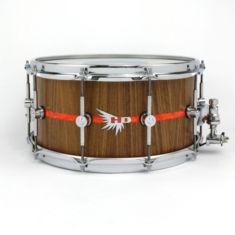 Orange Mod Ludwig Hendrix Drum Walnut Snare Drum HD