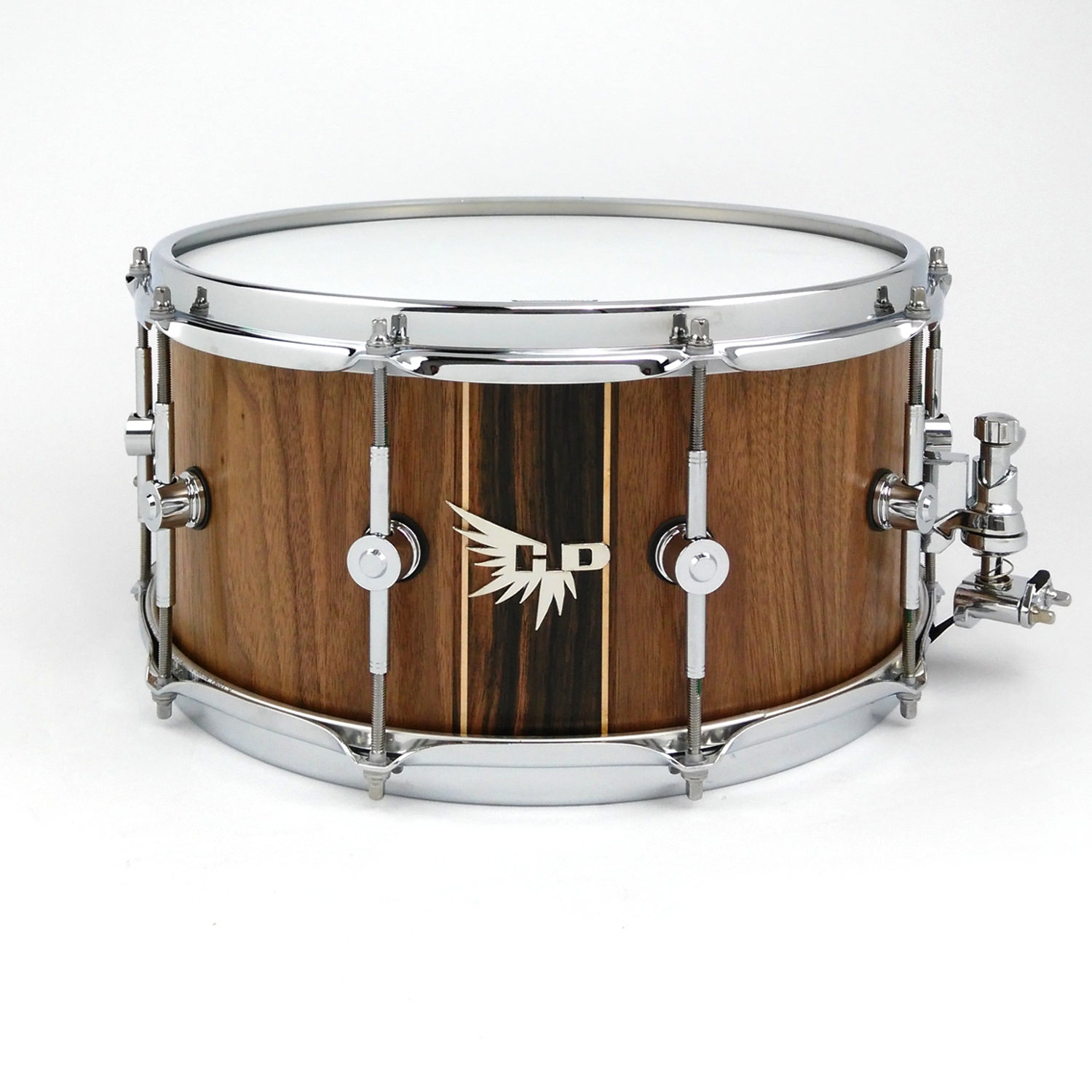 Nick Baglio Snare Drum Hendrix Drums Walnut Accent Macassar Ebony Rock tama