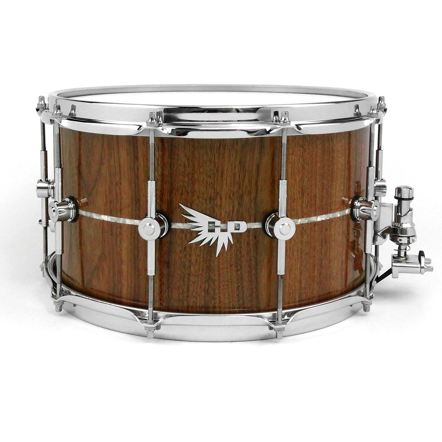 Walnut Inlay Stave Snare Drum Hendrix Drums HD Pearl Tama
