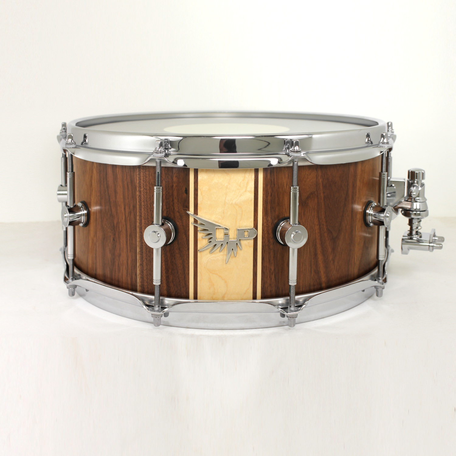 Maple Walnut Snare Drum HD Stave Hendrix Drums S-hoop Dunnett